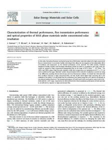 Characterization of thermal performance, flux