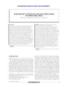 Characterization of Toxoplasma gondii from domestic ... - Parasite