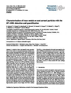 Characterization of trace metals on soot aerosol ... - MMEA Final Report