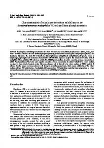 Characterization of tricalcium phosphate solubilization ... - Springer Link