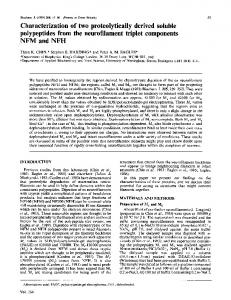Characterization of two proteolytically derived ... - Semantic Scholar