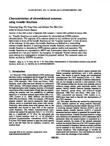 Characterization of ultrawideband antennas ... - Wiley Online Library