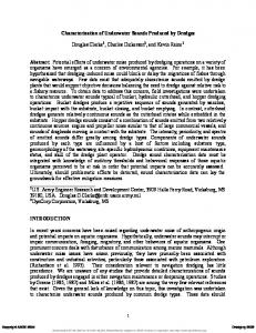 Characterization of Underwater Sounds Produced by ...
