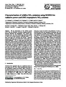Characterization of wildfire NOx emissions using ... - Atmos. Chem. Phys