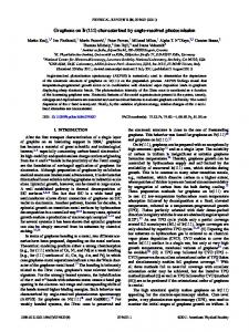 characterized by angle-resolved photoemission - Physical Review ...