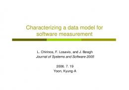 Characterizing a data model for software measurement