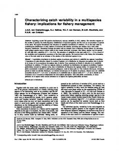 Characterizing catch variability in a multispecies fishery - Canadian ...