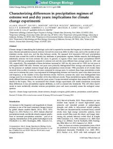 Characterizing differences in precipitation ... - Wiley Online Library