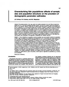 Characterizing fish populations: effects of sample size and ... - CiteSeerX