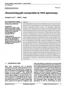 Characterizing gold nanoparticles by NMR
