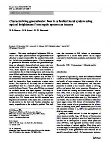 Characterizing groundwater flow in a faulted karst ... - Springer Link