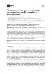 Characterizing Islandscapes: Conceptual and Methodological ... - MDPI