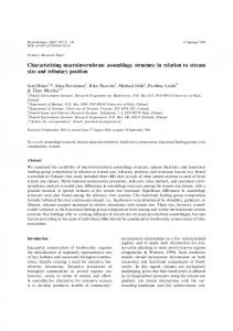 Characterizing macroinvertebrate assemblage structure in relation to ...