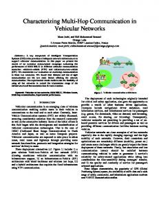 Characterizing Multi-Hop Communication in Vehicular Networks