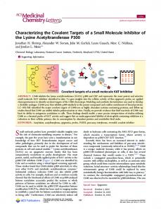 Characterizing the Covalent Targets of a Small ... - ACS Publications