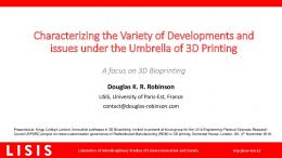 Characterizing the Variety of Developments and ...