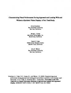 Characterizing Visual Performance During Approach and Landing ...