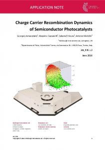 Charge Carrier Recombination Dynamics of Semiconductor ...