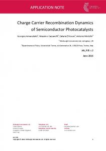 Charge Carrier Recombination Dynamics of Semiconductor