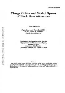 Charge Orbits and Moduli Spaces of Black Hole Attractors - CiteSeerX