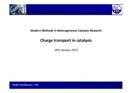 Charge transport in catalysis