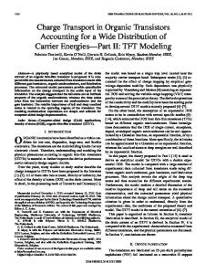 Charge Transport in Organic Transistors Accounting for ... - IEEE Xplore