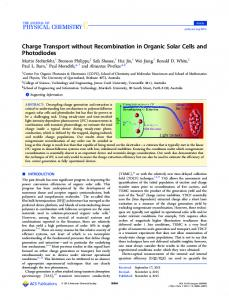 Charge Transport without Recombination in ... - ACS Publications