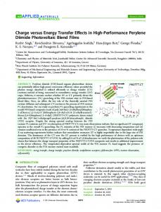 Charge versus Energy Transfer Effects in High ... - ACS Publications
