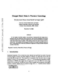 Charged Black Holes in Phantom Cosmology