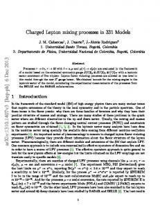 Charged Lepton mixing processes in 331 Models arXiv:1310.1407v3