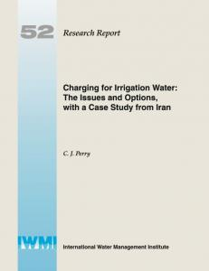 Charging for irrigation water