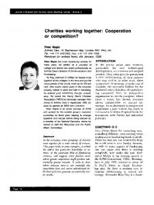 Charities working together: Cooperation or ... - Wiley Online Library