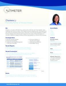 Charlene Li - Altimeter Group