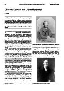 Charles Darwin and John Herschel - South African Journal of Science