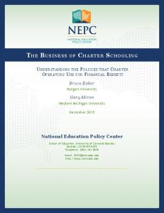Charter Funding - National Education Policy Center - University of ...