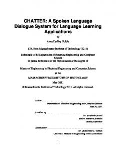 CHATTER: A Spoken Language Dialogue System for Language ...