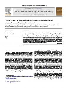 Chatter stability of milling in frequency and discrete time ... - mm.bme.hu
