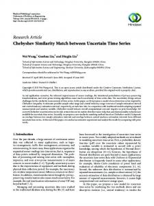 Chebyshev Similarity Match between Uncertain Time Series