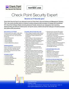 156-315-75 CheckPoint Check Point Certified Security Expert (CCSE