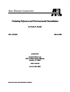 Chelating Polymers and Environmental Remediation - Army Research ...
