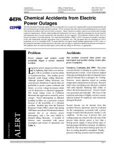 Chemical Accidents from Electric Power Outages (pdf)