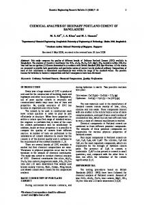 chemical analysis of ordinary portland cement of ... - CiteSeerX
