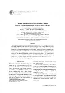 Chemical and mineralogical characterization of
