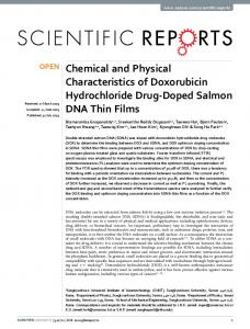 Chemical and Physical Characteristics of