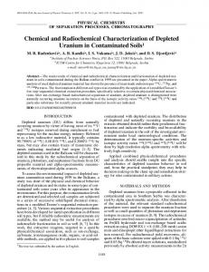 Chemical and radiochemical characterization of depleted uranium in ...
