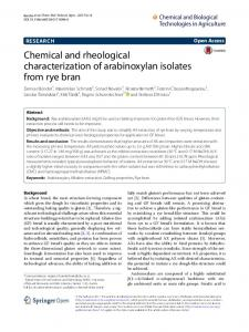 Chemical and rheological characterization of ... - Semantic Scholar