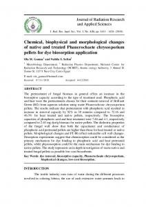 Chemical, biophysical and morphological changes of