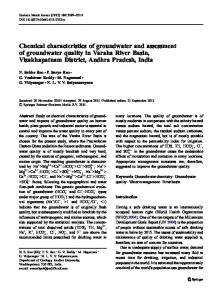 Chemical characteristics of groundwater and ... - Springer Link