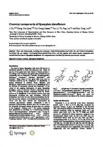 Chemical components of Dysoxylum densiflorum - Springer Link