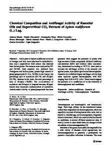 Chemical Composition and Antifungal Activity of ... - Springer Link
